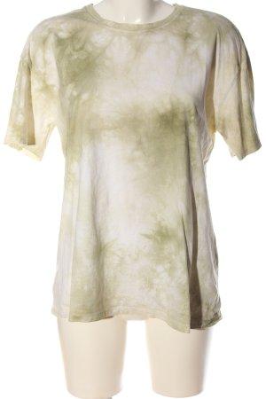 Zara Batikshirt creme-khaki Farbverlauf schlichter Stil