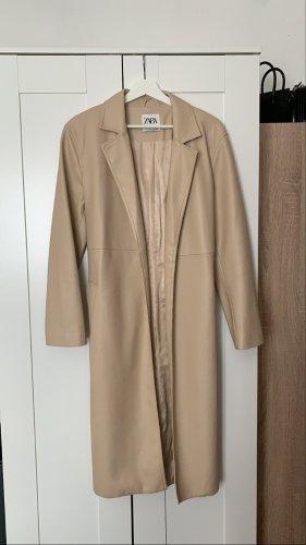 Zara beige Mantel Leder