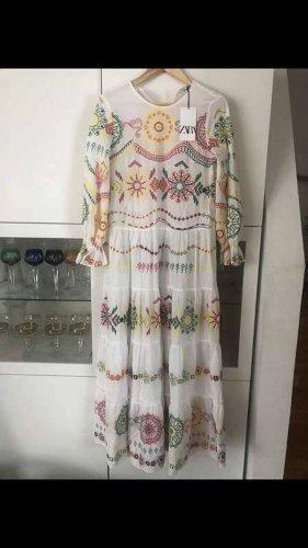 Zara Robe Hippie multicolore