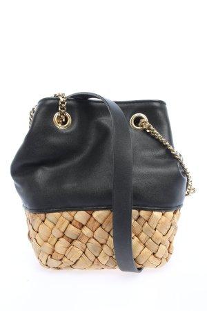 Zara Beuteltasche schwarz-wollweiß Casual-Look