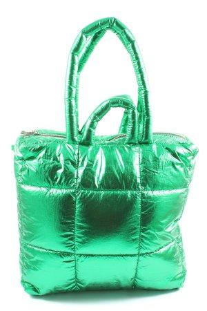 Zara Beuteltasche grün Steppmuster Elegant