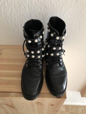 Zara Halfhoge laarzen zwart