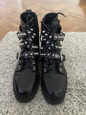 Zara biker boots aus Leder