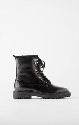 Zara Biker Boots Leder Gr. 40 *neu*