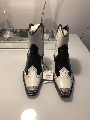 Zara Biker Cowboy Boots Stiefel Echtleder