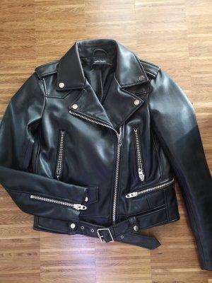 Zara Faux Leather Jacket black