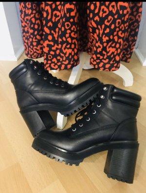 Zara Biker Stiefel  Boots 38 Leder neu