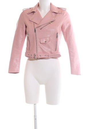 Zara Bikerjacke pink Casual-Look