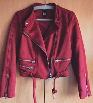 Zara Bikerjacke aus  | rot | Gr. M