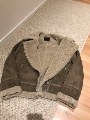 Zara Biker Jacket grey brown