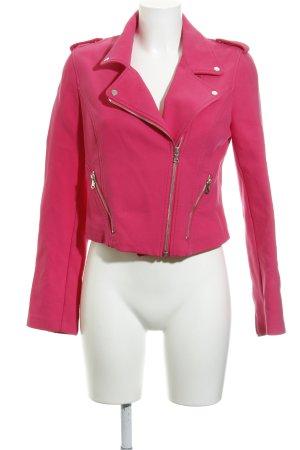 Zara Bikerjacke pink Biker-Look