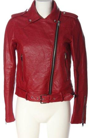 Zara Bikerjack rood casual uitstraling