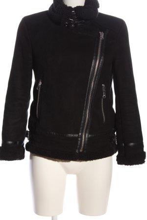 Zara Veste motard noir style décontracté