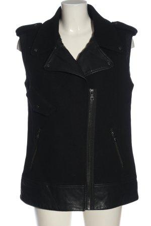 Zara Gilet da motociclista nero stile casual