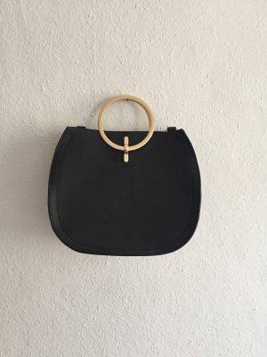 Zara Black Bag mit Goldreifen