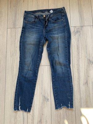 Zara Jeansy z prostymi nogawkami Wielokolorowy Bawełna