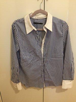 Zara blau weiß gestreifte Bluse NEU L klassische Impressionen