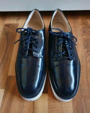 Zara Basic Zapatos Budapest azul oscuro