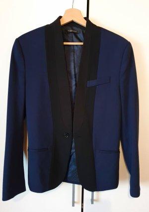 Zara Basic Unisex Blazer dark blue