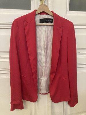 Zara Blazer in jersey rosso lampone