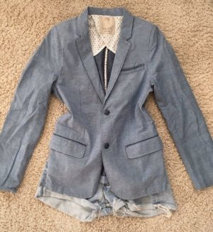 Zara Kids Blazer de esmoquin azul celeste-azul acero