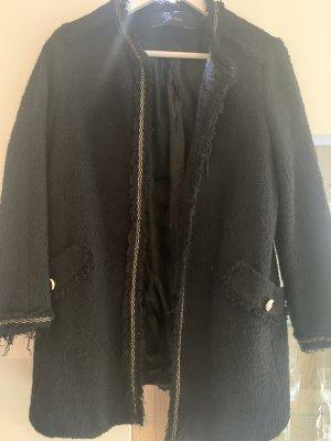 Zara Gebreide blazer zwart