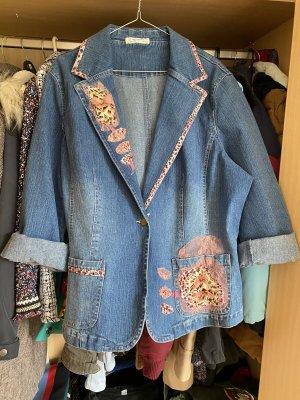 Zara Trafaluc Blazer en jean gris ardoise