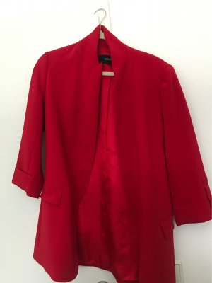 Zara Basic Boyfriend Blazer red