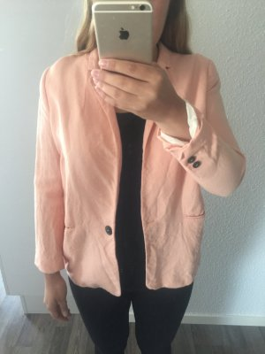 Zara Long Blazer multicolored linen