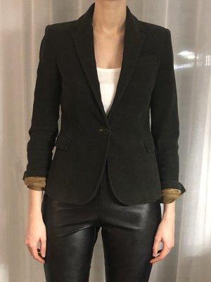 Zara Blazer aus Samt Velvet Jacket grüner Blazer Business Blazer Klassischer Blazer