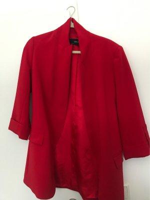 Zara Basic Blazer stile Boyfriend rosso