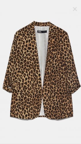 Zara Blazer en jersey brun