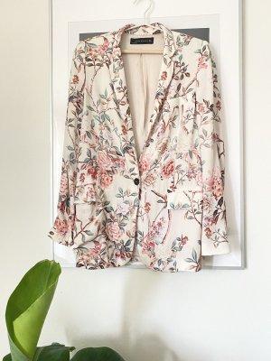 Zara Blazer florales Muster Sommer Blazer