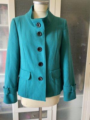 Zara Woman Blazer en laine turquoise