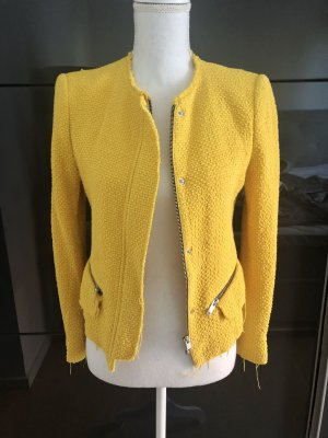 Zara Blazer in tweed giallo-giallo-oro