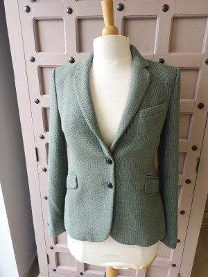 Zara Blazer tejido verde grisáceo