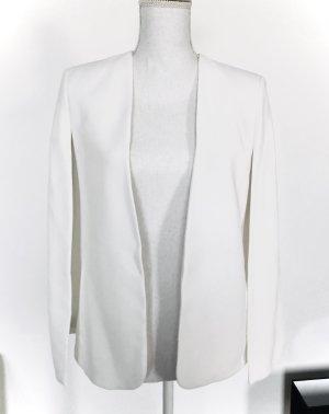 ZARA Blazer Gr. XS 34 Weiß Cape Jacke