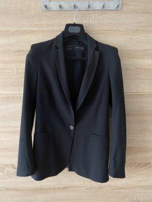 Zara Blazer, Größe S, schwarz, tailliert, mit Schulterpolstern