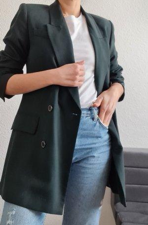 Zara Blazer grün Doppelreihig Knopfleiste