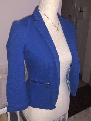Zara Blazer en jersey bleu