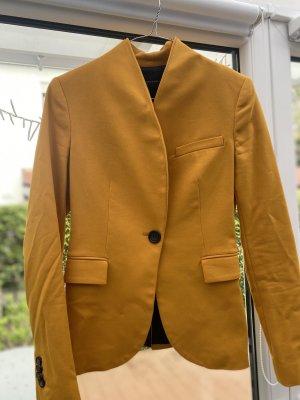 Zara Klassischer Blazer gold orange