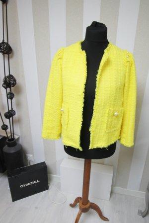 Zara Blazer Jacke Tweed Boucle Look mit Perlen Details