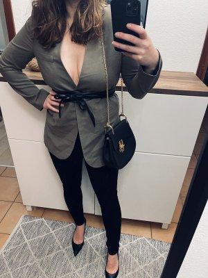 Zara blazer khaki blogger ausverkauft Gr M
