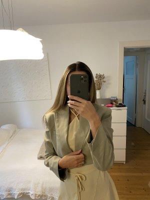 Zara Blazer corto beige-color carne