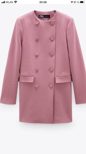 Zara Long Blazer pink