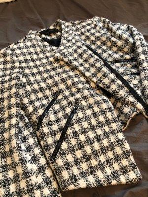 Zara Basic Blazer in maglia bianco-nero