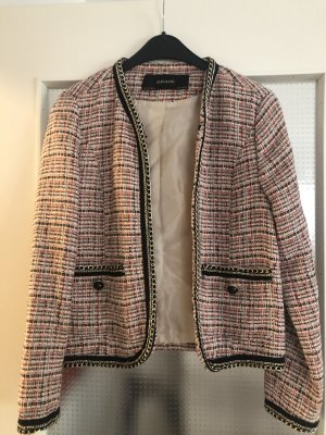 Zara Basic Blazer in tweed rosa Viscosa