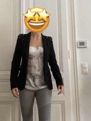 ZARA Blazer mit Perlen-Applikationen