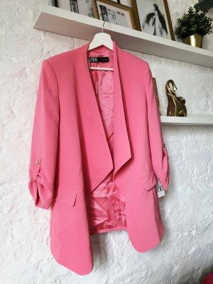 Zara Blazer Boyfriend rosa-rosa