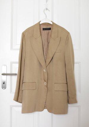 Zara Blazer stile Boyfriend marrone chiaro